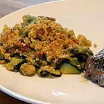recette Crumble de Courgettes - Serrano au Parmesan et Origan