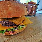 recette Hamburger au boeuf et au cheddar