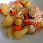 recette Escalopes de poulet aux pommes de terre et carottes en cocotte