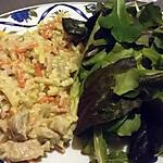 recette Julienne de légumes champignons porc riz