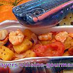 recette st jacques aux crevettes et ananas