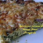 recette Quiche aux poireaux et lardons sans pâte