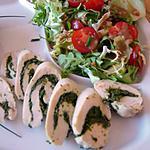 recette filets de poulet farcis aux herbes (ultra diététique) (10mns)