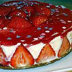 recette Gâteau Miroir aux Fraises, Croûte de Spéculoos