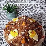 recette Gâteau de Pacques chocolat praliné, café