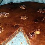 recette Gâteau chocolat, poudre d'amande et noix