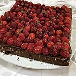 recette Gâteau chocolat framboises