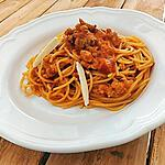 recette Spaghetti au ragoût à la tomate, mozzarella (recette de Cyril Lignac)