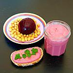 recette houmous de betterave - vegan