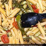 recette Pennes asperges fèves tomates