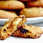 recette Biscuit au chocolat blanc, baies de goji et cranberries