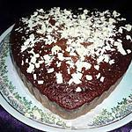 recette Gateau au chocolat noir et copeaux de chocolat blanc