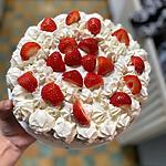 recette Génoise à la crème fraiche et aux fraises.