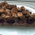 recette TARTE CRUMBLE CHOCOLAT-CERISE