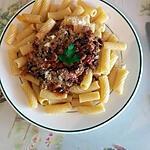 recette Rigatonis à la sauce champignons et tomates