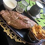 recette Bœuf au beurre noisette sauce au bleue