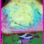 recette Cake multicolore