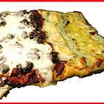 recette Pizza bi-goût : 4 fromages et viande hâchée