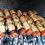 recette Brochettes poulet ananas chorizo