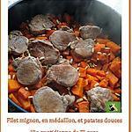 recette Filet mignon de porc, en médaillon, accompagné de patates douces