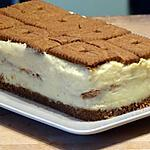 recette Gâteau Spéculoos et Petits-Beurre à la Crème Pâtissière