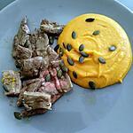 recette Boeuf et graines de courge purée de patates douces ( Thermomix )