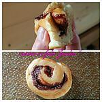recette Escargots au nutella sans oeufs sans beurre ultra moelleux ( méthode tangzhong)