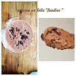 recette Mousse au chocolat au lait et fruit de la passion sans oeufs sans crème ( au jus de pois chiches) très rapide et très façile !