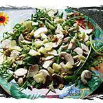 recette 2/4- salade de roquette minceur méli-mélo