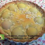 recette Tarte poires, chocolat et amandes