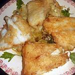 recette Filets de flétan compotée de poireaux à la creme