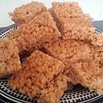 recette Barre de céréales Rice Krispies aux shamalows