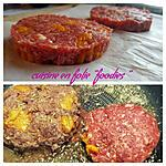 recette Steacks hachés au caviar d'aubergine et aux poivrons grillés