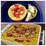 """recette Riz cuit au four dans mon bouillon de poulet rôti """"ail et curcuma """", et + ( méthode goûteuse et zéro gaspi!!..)"""