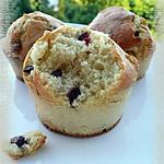 recette Muffins au chocolat blanc & aux cranberries