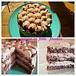 recette Gâteau chocolat-praliné comme un nuage..
