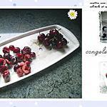 recette congeler cerises  et coulis de fruits rouges