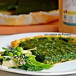 recette Tarte aux orties et petits pois, végétarien