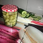 recette Lamelles de concombre au vinaigre