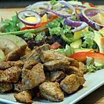 recette Lanières de Porc Marinées et Salade Exotique
