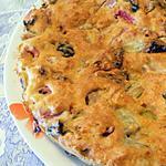 recette Gateau à la rhubarbe et aux pruneaux