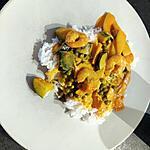 recette Crevettes au curry rouge