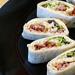 recette Wraps au Jambon Grillé et  Émincé de Chicons Balsamique