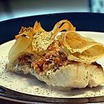 recette Filets de Poisson aux Crevettes  et Chiffonnade de Pâte Filo