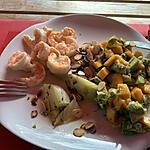 recette Fenouil confit, crevettes et salsa de mangue