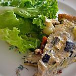 recette Quiche sans pâte oignons et courgettes