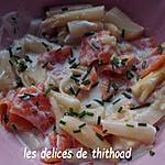 recette salade d'asperges blanches au saumon fumé
