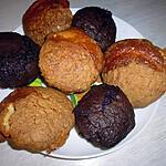 recette Petits moelleux au chocolat et petits moelleux au citron