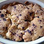 recette crumble pommes/abricots/cannelle (prépa 15 mns)