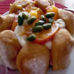 recette Charlotte abricots/mangue à ma mode (prépa 15mns)